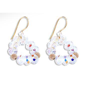 Ah! Jewellery Aurore Boreale Crystals From Swarovski Briolette Bespoke Earrings