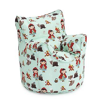 Klaar Steady Bed Little Red Kids Peuter Fauteuil | Comfortabel kindermeubilair | Soft Child Safe Seat Speelkamer Sofa | Ergonomisch ontworpen zitzakstoel