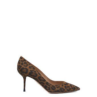 Aquazzura Purmidp0jas993 Women's Leopard Suede Pumps