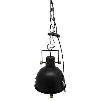Industrieel lampplafondlamp metaal mat zwart