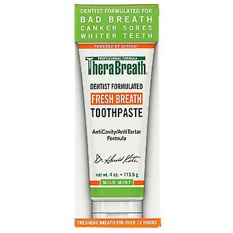 Therabreath syresättande naturligt tandkräm med fluor, mynta, 4 oz