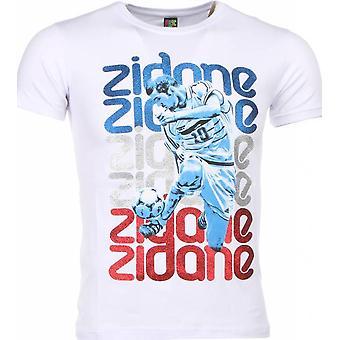 T-shirt - Zidane Print - weiß