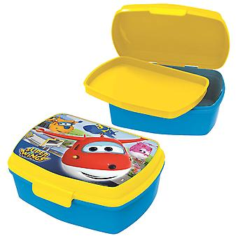 SUPERWINGS Children's bread tin with plastic blue yellow insert
