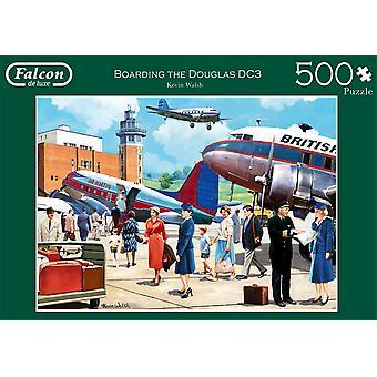 Falcon De Luxe Puzzle - Boarding The Douglas Dc3, 500 Stück