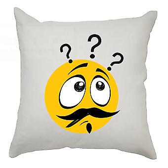 Emoji Cushion Cover 40cm x 40cm Confusion