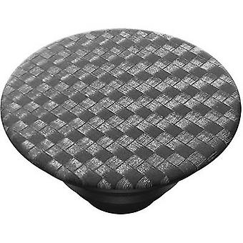 POPSOCKETS Carbonite Weave Mobile phone stand Black, Silver
