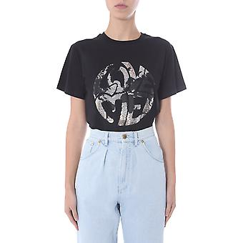 Alberta Ferretti 070316721555 Women's Black Cotton T-shirt