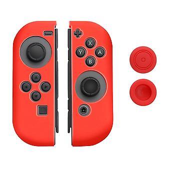 Silikoni pehmeä kotelo kansi ihon kumi korkki Nintendo Switch [Punainen]