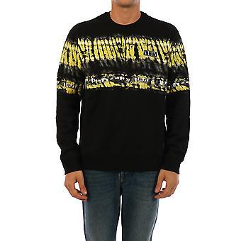 Valentino Uv3mf14m6hgpo8 Männer's schwarze Baumwolle Sweatshirt