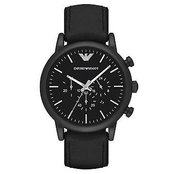 Emporio Armani AR1970 46mm Case Luigi Chronograph Black Dial Men's Watch