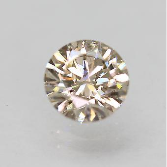 Zertifiziert 0,71 Karat hellbraun VS2 Runde brillante natürliche lose Diamant 5,7 mm