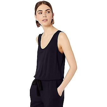 Daily Ritual Women's Supersoft Terry sleeveless Jumpsuit, Marina, Medium