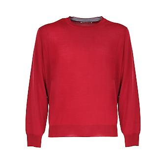 Brunello Cucinelli M2400100cp624 Men's Red Wool Sweater