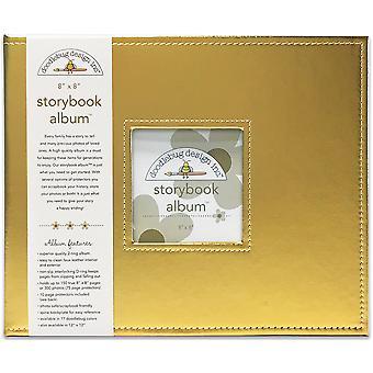 تصميم خربشات الذهب الذهب 8x8 بوصة ألبوم Storybook