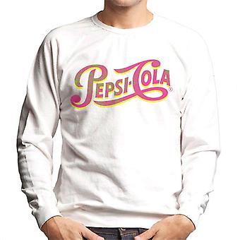 Pepsi Cola Neon Rétro Logo Homme-apos;s Sweatshirt
