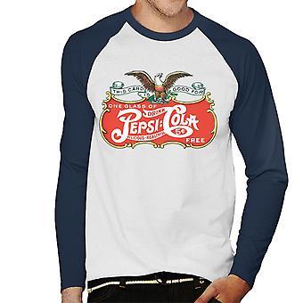 Pepsi Cola Retro Drink Token Herren Baseball Langarm T-Shirt