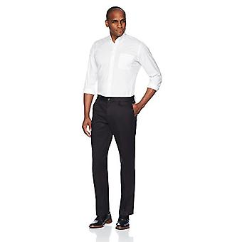 BUTTONED DOWN Men's Straight Fit Stretch Non-Iron Dress Chino Pant, Black, 30W x 34L