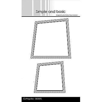 Simple and Basic Wonky Window Dies