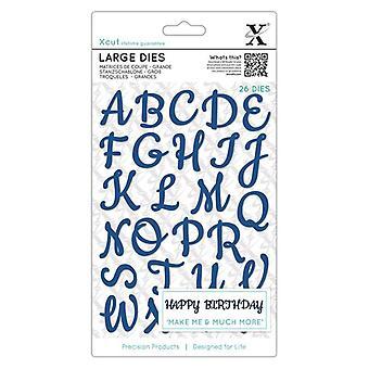 Xcut Large Dies (29pcs) - Script Alphabet Upper Case (XCU 504081)