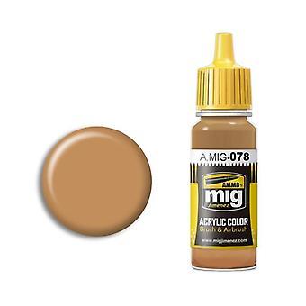 Ammo by Mig Acrylic Paint - A.MIG-0078 Ochre Earth (17ml)