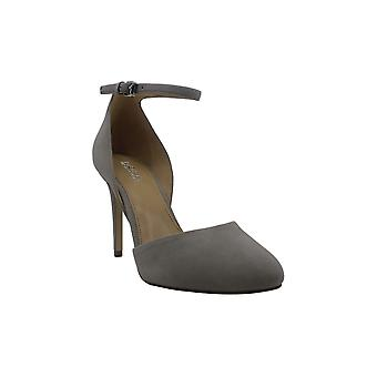 MICHAEL Michael Kors Womens georgia Suede Closed Toe Ankle Strap Classic Pumps