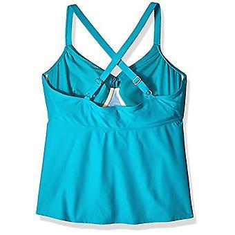 Brand - Coastal Blue Women & apos, s Plus Size Wrap Front Underwire Tankini till ...