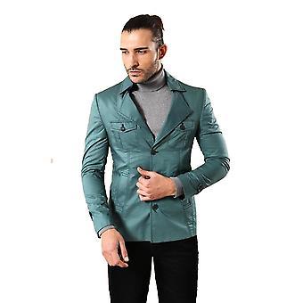 Green cotton trenchcoat