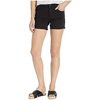 Levi's Women's Mid Length Shorts, Black, 27 (US 4)