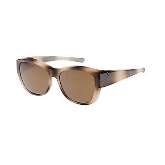 Óculos de Sol Conversão Unissex VZ-0047C3 marrom