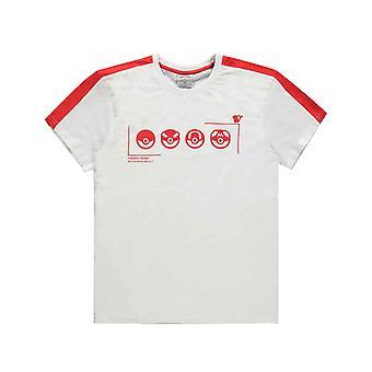 Pokemon T-paita Trainer Tekninen Poke Ball Logo uusi virallinen Miesten Valkoinen