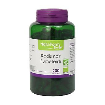 Black Radish & Organic Fumitory 200 vegetable capsules