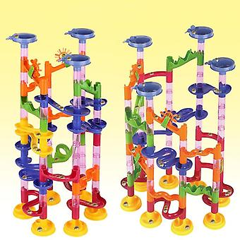 105pcs Kids Marble Path Gravitrax Track Building Pipe Blocks  Educational Toy For Children (105pcs)