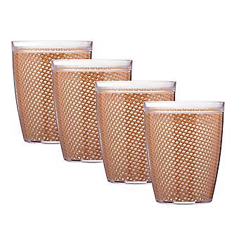 Fishnet 14 Oz Toffee Doublewall Drinkware Set/4