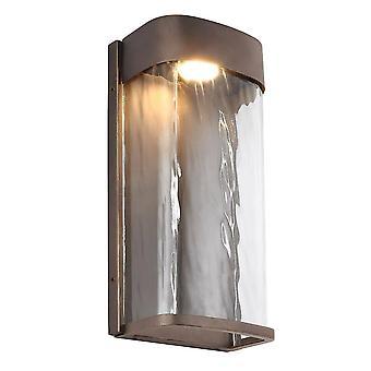 LED 1 Licht Outdoor Grote Muur Licht Brons IP44