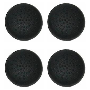 Dotted convex silicone thumb grips for sony ps4 controllers thumb stick caps - 4 pack black