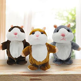 15cm Cute Talking Hamster Mouse Umplute Plush Animal Doll Sound Record Repetați