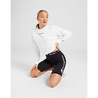 New Champion Women's Logo Cycle Shorts Black