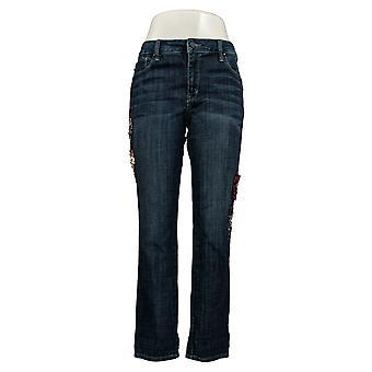 Laurie Felt Women's Jeans Verfraaid vriendje Blue A343605