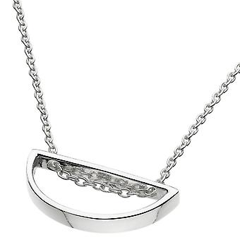 Dew Sterling Silver Open Semi Circle 18 Necklace 98015HP020