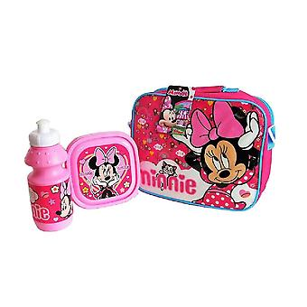 Minnie Mouse Childrens/Kids Lunch Bag Set
