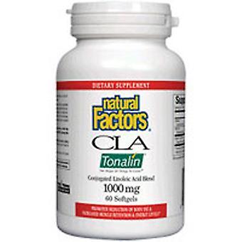Luonnolliset tekijät CLA Tonalin linolihappo, 1000 mg, 90 Softgels