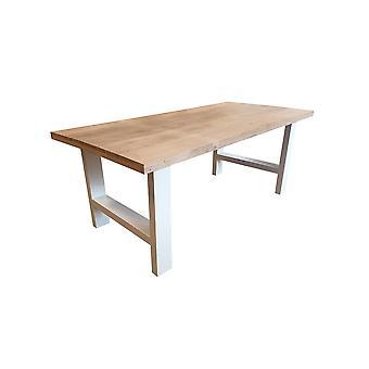 Wood4you - Eettafel Seattle Eikenhout 200Lx78Hx90D cm wit