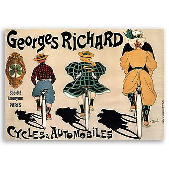 Vintage Reclame Poster Georges Richard - Cycli & Automobiles II - Canvas Print, Wall Art Decor