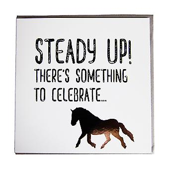 Gubblecote Steady Up Greetings Card
