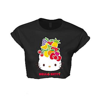 Ciao Kitty Frutta (Cropped) T-Shirt, Donne