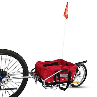 Bicycle Trailer Without Bag, Single Air Wheel Mountain Bike Carriage