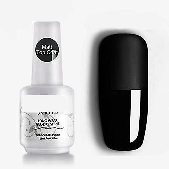 Esmalte semi permanente Matt, Top Coat Rein Force Gel