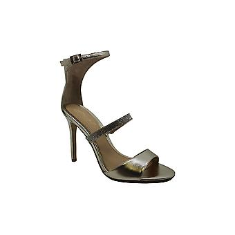 BADGLEY MISCHKA Womens Rhianna Ii Leather Open Toe Casual Ankle Strap Sandals