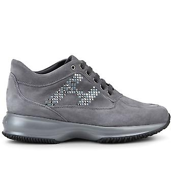 Damen Hogan Interactive Grey Wildleder Sneaker