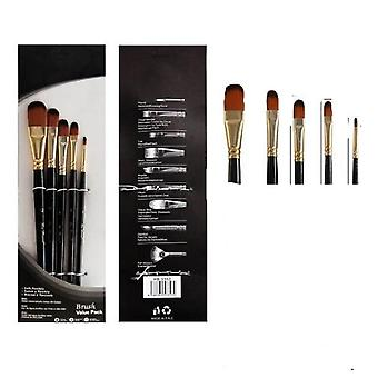 Artist Wood Handle Paint Brush Set - Eco Friendly Watercolor ,acrylic Oil